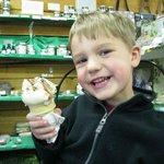 Great ice cream & local crafts.