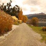 walk path around the lake