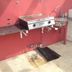 Filthy bbq area