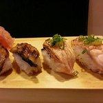 Buffet: Fresh Touched unagi and salmon