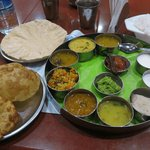 yummy thali and puri badj