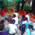 Blessing Ceremony in courtyard