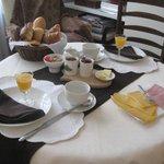 Yummy European breakfast
