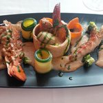 lobster & prawn 'vol au vent'.....fantastic