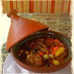 Beef tagine with apricots and prunes