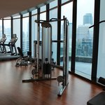 Gym with City View