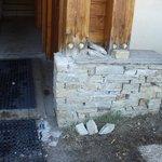 délabrement mur extérieur