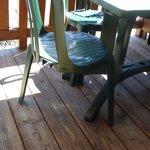 délabrement mobilier terrasse