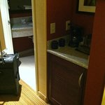 Microwave and fridge unit