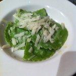 raviolis de espinacas y queso