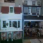 Display of doll houses beautifully crafted