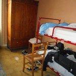 La camera e il letto a castello
