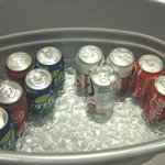 Soda selection for Tuesday night complimentary guest reception