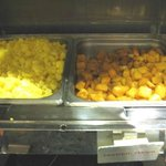 Breakfast buffet ~ scrambled eggs & seasoned potatoes