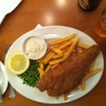 Fish n chips from the restaurant