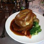 Roast beef wedding breakfast