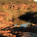 Rockpool on the farm, to which one can hike from the accommodation