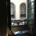 Lobby & corridor courtyard view