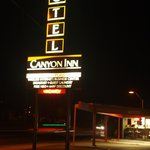 Canyon Inn at night