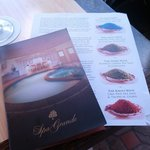 spa menu and salt bath sheet