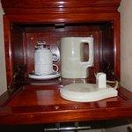 Set de teo cafe dentro de la habitacion