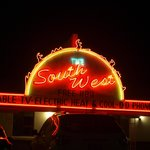 Motel sign at night