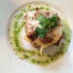 Sautéed mushroom on polenta