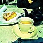 Almond Cake and Green Tea