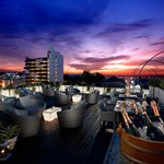 the stunning rooftop sunset lounge