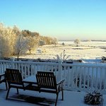 Snow on frozen Lough Corrib
