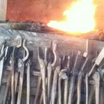 A hot fire for the blacksmith