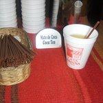 Recepción con té de coca, infaltable!!!!
