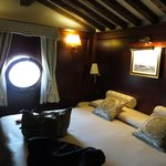 Bed with our porthole window!