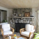 Sit by the cozy fireplace to read/relax