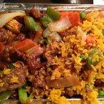 Hunan Beef with fried rice