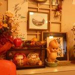 食堂の昭和の飾り物
