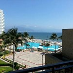 view from our pool/oceanview king suite