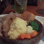 Roast lamb in Yorkshire Pudding