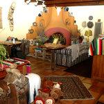 Our Gathering Room with Carmen Velarde Kiva Fireplace