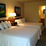 Two Double beds--all rooms feature original artwork by local artists!