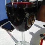 Full glass of wine
