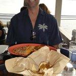 Jim enjoys Rosa's Cantina