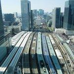 部屋から東京駅を