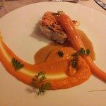 Merlu, carotte gingembre