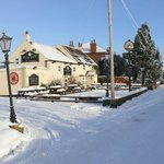 The New Inn in the snow