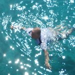 swimming off planti