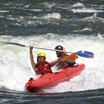 Tandem kayaking with Kayak the Nile and Nile River Explorers