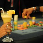 Guest enjoying drinks during Roulette Play