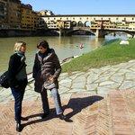 Una visuale originale della città dalla Società Canottieri Firenze