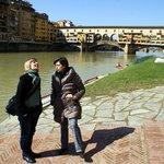 Bellissima Firenze vista dall'Arno